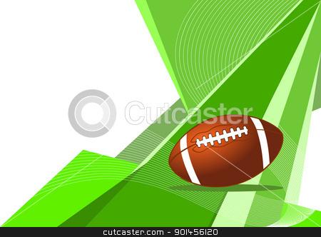 American football, abstract design stock vector clipart, American football, abstract design by Jupe
