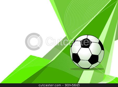 Soccer, abstract design stock vector clipart, Soccer, abstract design by Jupe