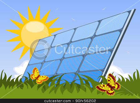 Solar panel stock vector clipart, Solar panel by Jupe