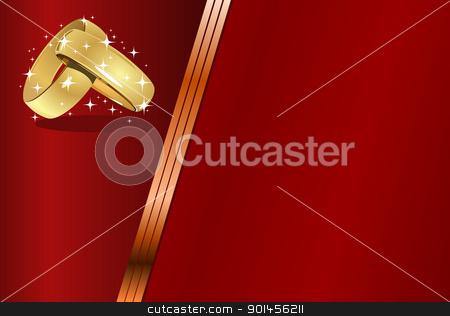 Wedding card - blank stock vector clipart, Wedding card - blank by Jupe