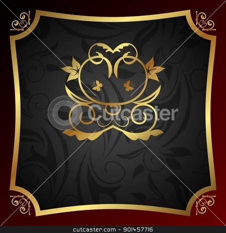 ornate decorative golden frame stock vector clipart, Illustration ornate decorative golden frame - vector by -=Mad Dog=-