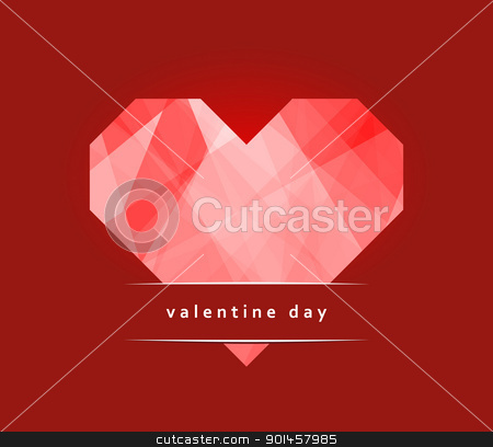 Valentine day card stock photo, Card Valentine Day with a heart made ??of paper by Imaster