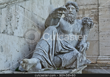 Statues at a Piazza stock photo, Statues at a Piazza in Rome Italy by derejeb