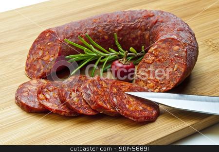 chorizo sausage stock photo, Chorizo sausage of Spain by Hans-Joachim Schneider