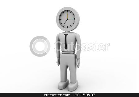 businessman and clock	 stock photo, businessman and clock	 by dileep