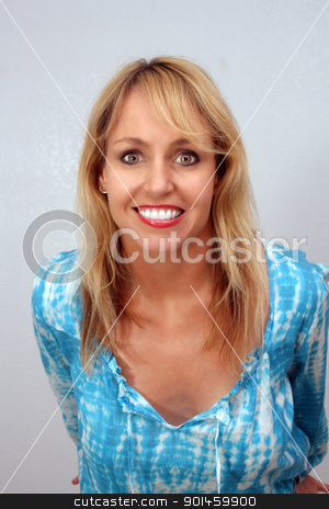 Beautiful Smiling Blonde (1) stock photo, A lovely blonde with a captivating smile. by Carl Stewart