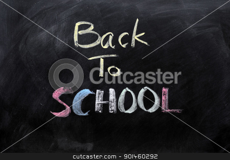 Chalkboard background  stock photo, Chalkboard Background with a handwriting of
