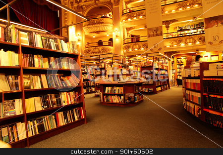 Bookstore in Buenos Aires stock photo, A Bookstore in Buenos Aires, Argentina, South America. Editorial use only! by Michael Osterrieder