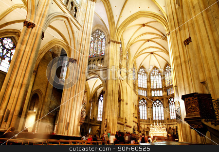 The Cathedral of Regensburg stock photo, Interior image of the famous dome of Regensburg on August 27, 2010 in Regensburg, Germany.  by Michael Osterrieder