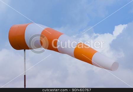 wind sock stock photo, wind sock meter by Komkrit Muangchan