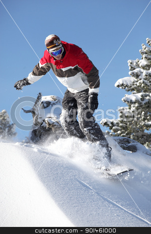 Male snowboarder stock photo, Male snowboarder by photography33