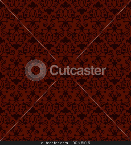 Seamless tiling antique pattern stock vector clipart, A seamless tiling antique Victorian style background pattern by Christos Georghiou