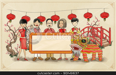 chinese new year greeting stock photo,  by Alice Heart