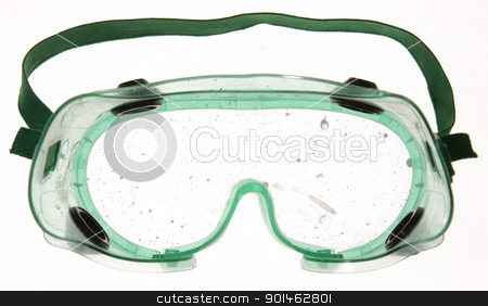 Dirty Goggles stock photo, Goggles with paint drips on the lens.  by Chris Hill