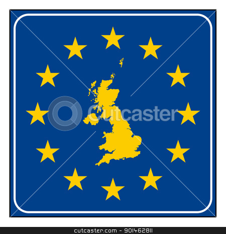 England European road sign stock photo, England or United Kingdom European button isolated on white background with copy space.  by Martin Crowdy
