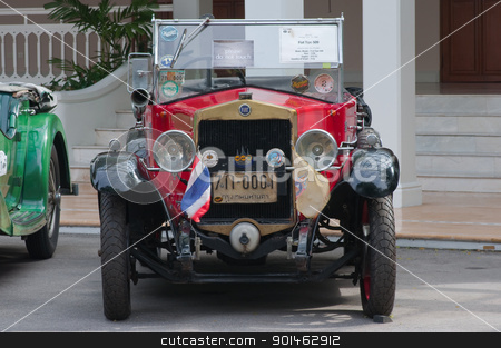 Hua Hin Vintage Car Parade  2011 stock photo,  Hua Hin - December 17: Fiat Tipo 509 Year 1926 display in Hua Hin Vintage Car Parade  2011 Sofitel Centara Grand Resort & Villas Hua Hin on December 17, 2011 in Hua Hin, Thailand. by Komkrit Muangchan