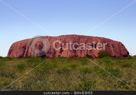 Ayers Rock in Australia stock photo, Uluru or Ayers Rock late in the day. by © Ron Sumners