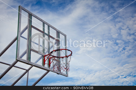 basketball hoop and board at outdoor stock photo, basketball hoop and board at outdoor by Yuttasak Jannarong