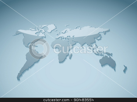 Template world background stock vector clipart, Ideal presentation background of the world with reflection by Michael Travers