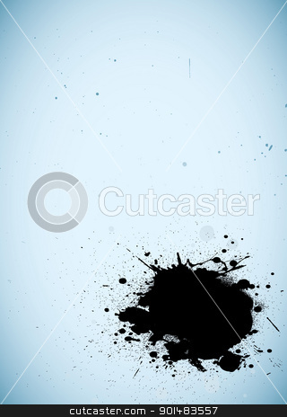 Grunge modern ink background stock vector clipart, Abstract modern grunge ink background with black splat by Michael Travers