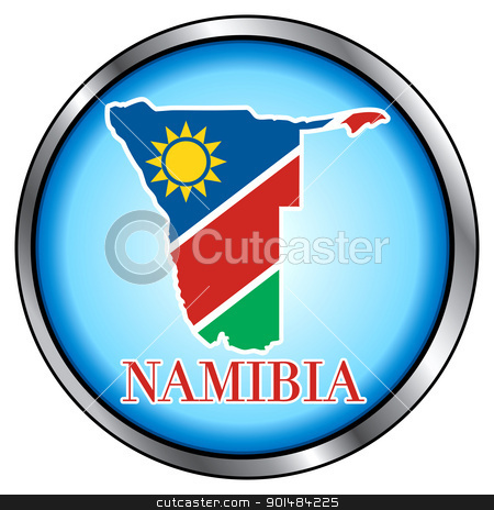 Namibia Round Button stock vector clipart, Vector Illustration for Namibia, Round Button. by Basheera Hassanali