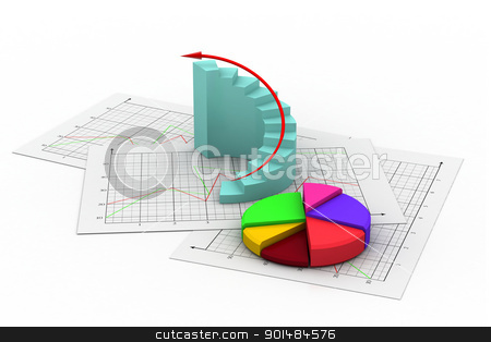Business chart	 stock photo, Business chart	 by dileep