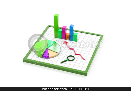 Business graph analyzing stock photo, Business graph analyzing by dileep