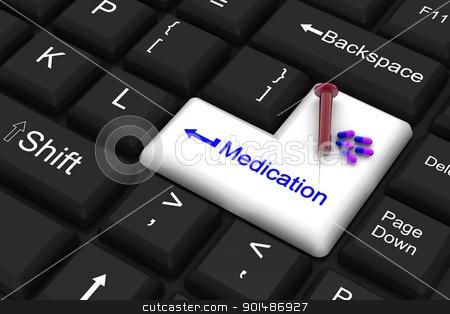 medication enter key stock photo, medication enter key by dileep