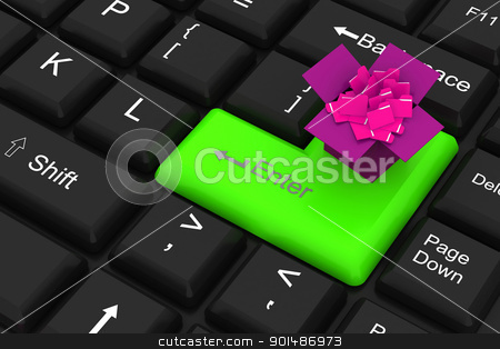 Folder with enter key stock photo, Folder with enter key by dileep