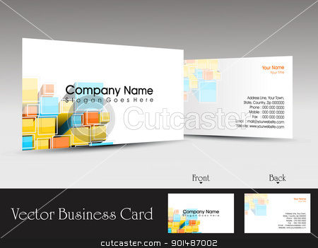 vector professional business card stock vector clipart, colorful abstract creative design concept business card by Abdul Qaiyoom