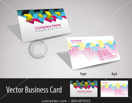 set of stylish design vector business card  stock vector clipart, colorful abstract stylish concept professional business card by Abdul Qaiyoom