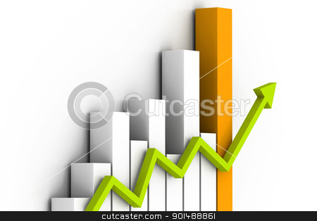 Business graph stock photo, Business graph by dileep