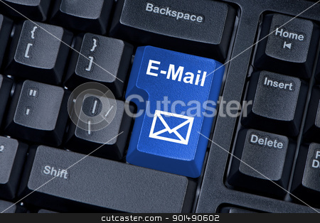E-mail button computer keyboard with envelope icon. stock photo, E-mail button computer keyboard with envelope icon. by Borys Shevchuk