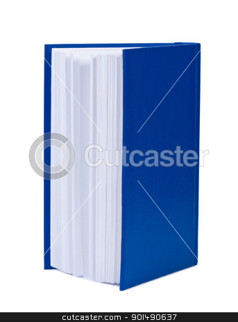 Hardcover book on white background. stock photo, Hardcover book on white background. by Borys Shevchuk