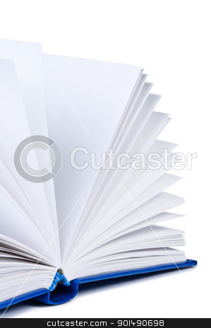 Open book on white background. stock photo, Open book on white background. by Borys Shevchuk