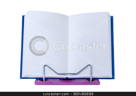 Open book with blank pages on stand isolated. stock photo, Open book with blank pages on stand isolated. by Borys Shevchuk