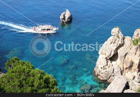 Greece. Corfu, Paleokastrica, coast  stock photo, Greece. Corfu island. Paleokastrica coast  by Morozova Oxana