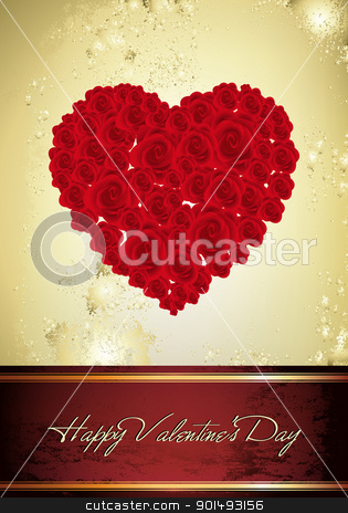 Vintage Valentine Card stock vector clipart, This image is a vector file representing a Vintage Valentine Card,  all the elements can be scaled to any size without loss of resolution. by Bagiuiani Kostas