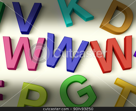 Www Written In Plastic Kids Letters stock photo, Www Written In Multicolored Plastic Kids Letters by stuartmiles
