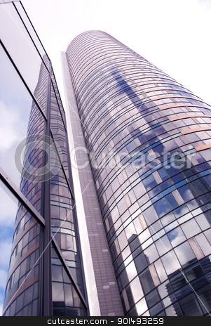 Glass high skyscraper modern city architecture  stock photo, Glass high skyscraper. Modern city architecture background.  by sauletas