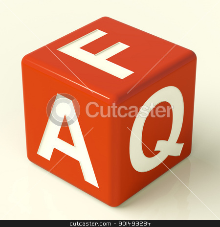 Faq Dice As Symbol For Information Or Assistance stock photo, Faq Red Dice As Symbol For Information Or Assistance  by stuartmiles