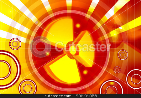 3d highly rendering radiation symbol in digital color background stock photo, 3d highly rendering radiation symbol in digital color background by dileep