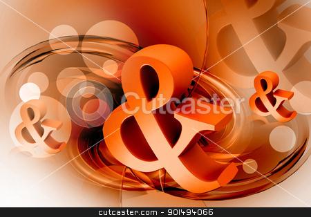 Digital illustration of business symbol in color background stock photo, Digital illustration of business symbol in color background by dileep