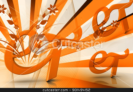 Digital illustration of Zodiac symbol in color background stock photo, Digital illustration of Zodiac symbol in color background by dileep