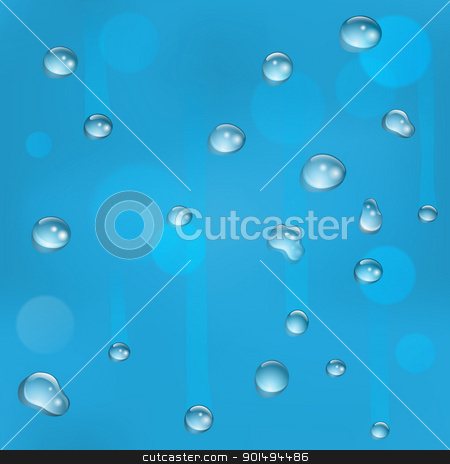 Seamless tiling water drops on glass background stock vector clipart, Water drops on glass illustration. Can be tiled seamlessly to form larger background. by Christos Georghiou
