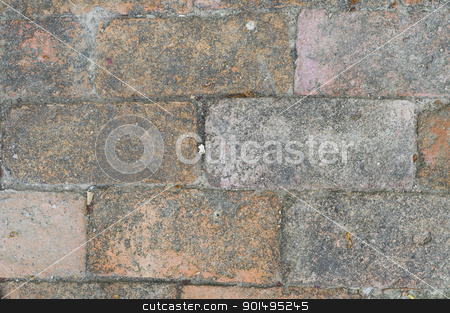 old brick wall stock photo, old brick wall texture background by Komkrit Muangchan