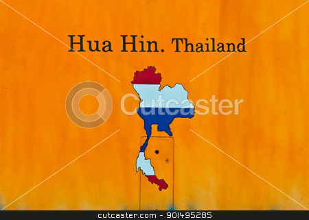 yellow Thailand sign stock photo, yellow Thailand sign by Komkrit Muangchan