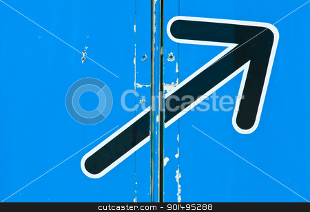 blue arrow sign stock photo, blue arrow sign by Komkrit Muangchan