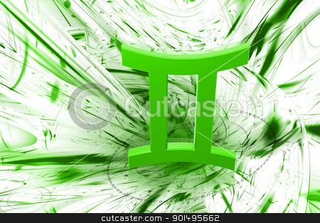 Digital illustration of Zodiac symbol in color background stock photo, Digital illustration of Zodiac symbol in color background by dileep