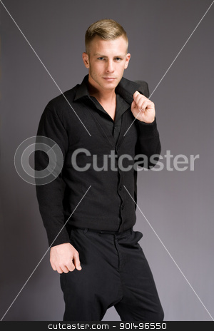 Cool fashionable young man. stock photo, Portrait of an elegantly dressed cool fashionable young man. by exvivo